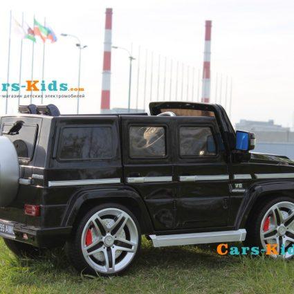 Электромобиль Mercedes-Benz G55 AMG (сиденье кожа, колеса резина, музыка, пульт)