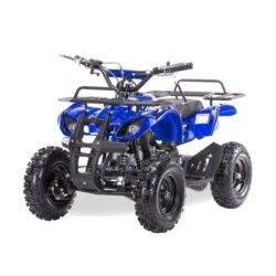 Квадроцикл детский бензиновый MOTAX ATV Х-16 Мини-Гризли синий (механический стартер, задний привод, до 45 км/ч)